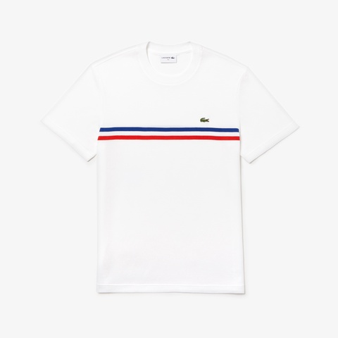 『MADE IN FRANCE』ボーダー鹿の子地クルーネックTシャツ