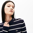 『LACOSTE L!VE』ボーダープリントニット